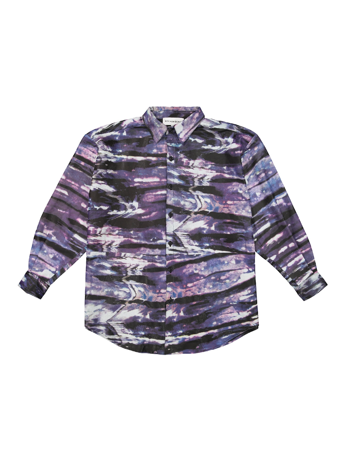 tie dye glitch - oversized leather shirt