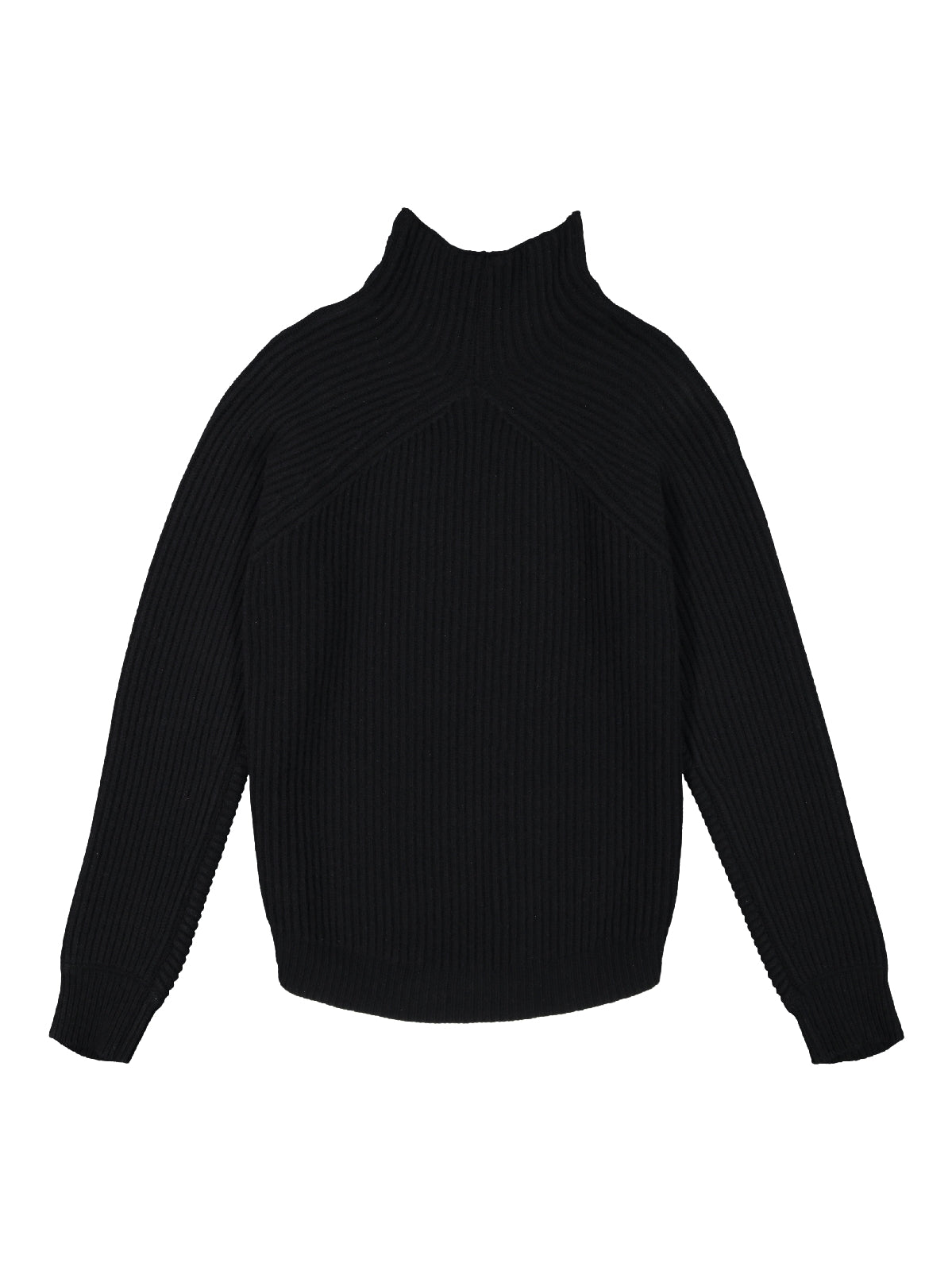 black - turtleneck