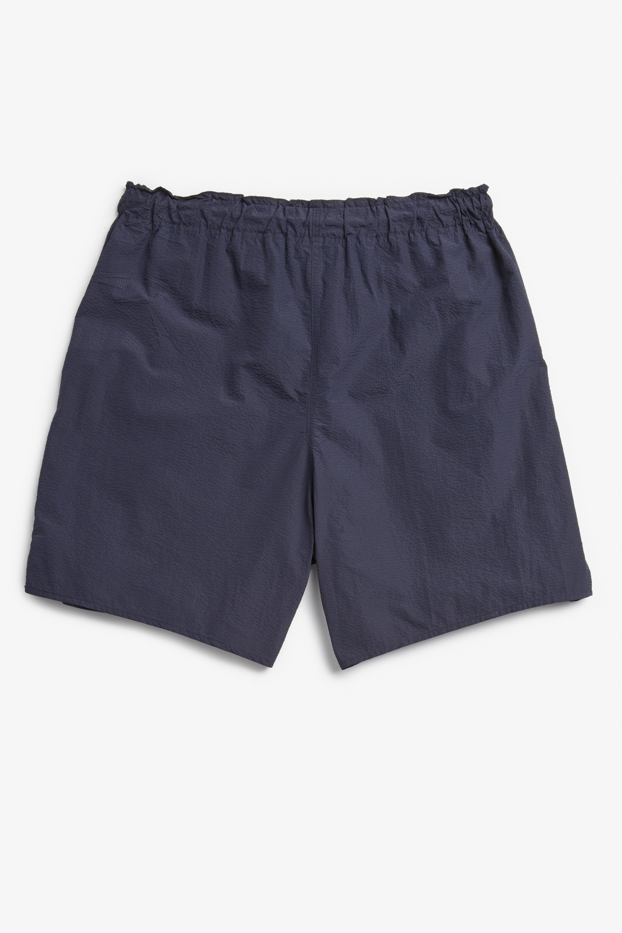 navy seersucker drawstring shorts