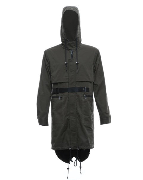 Storm Flap Anorak in Olive