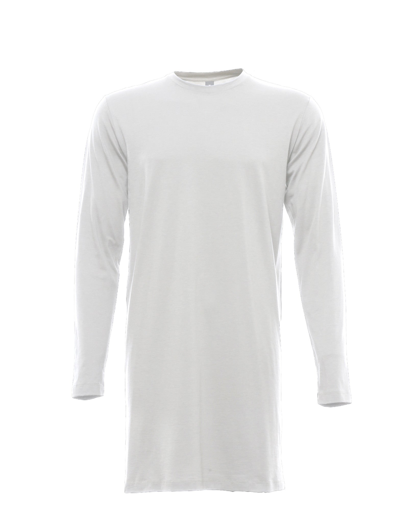 Long Line Jersey in White