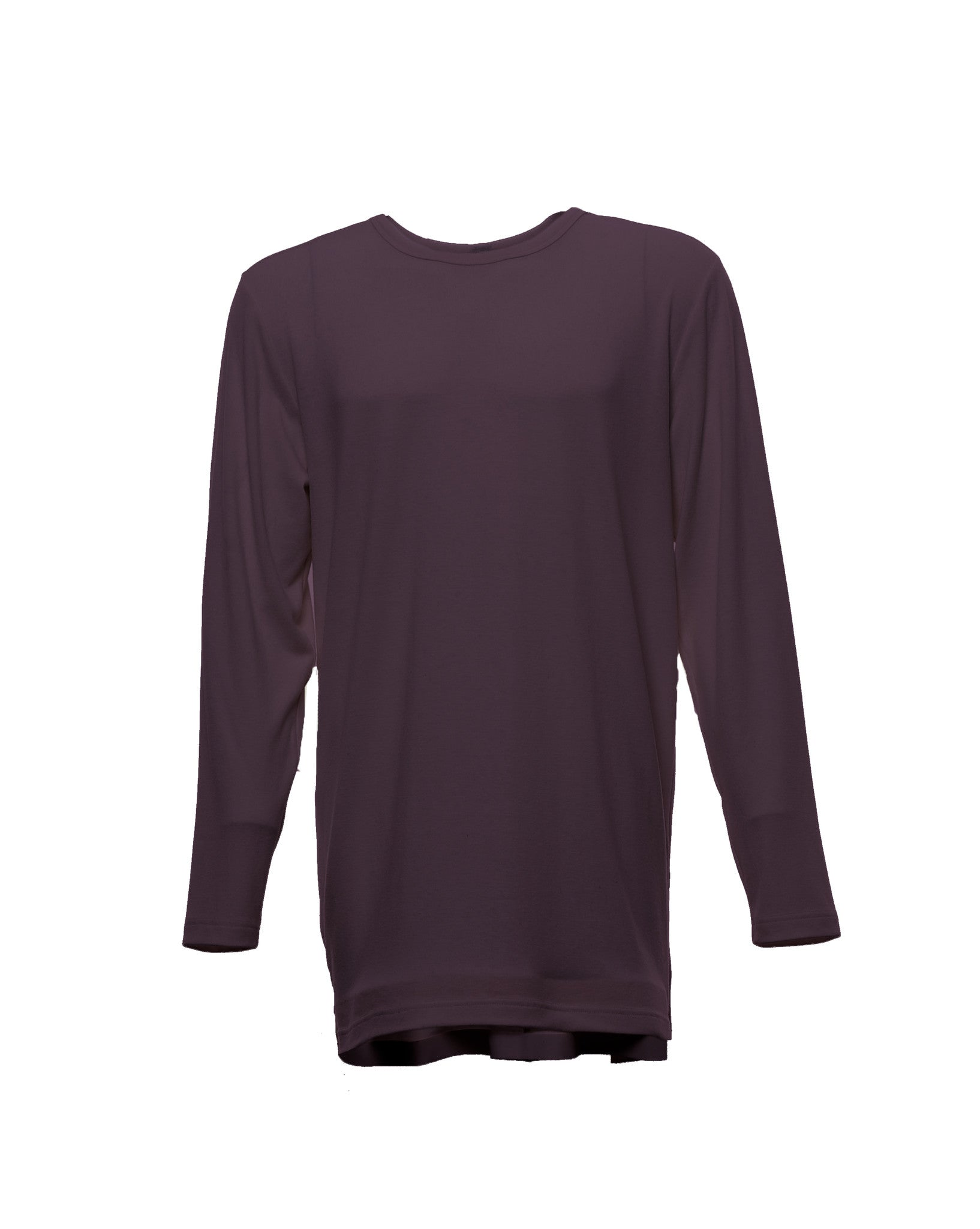 Surge Seam Top in Aubergine
