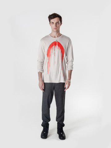 Paint Drip Long Sleeve Tee