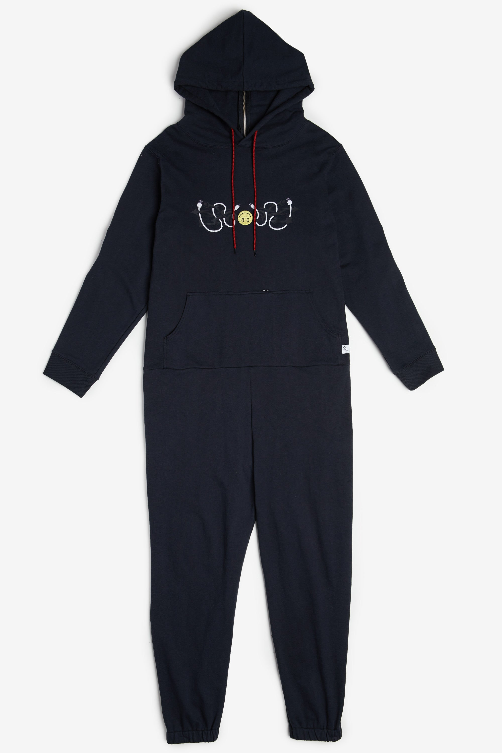 Tribal Smiley Hooded Jumpsuit