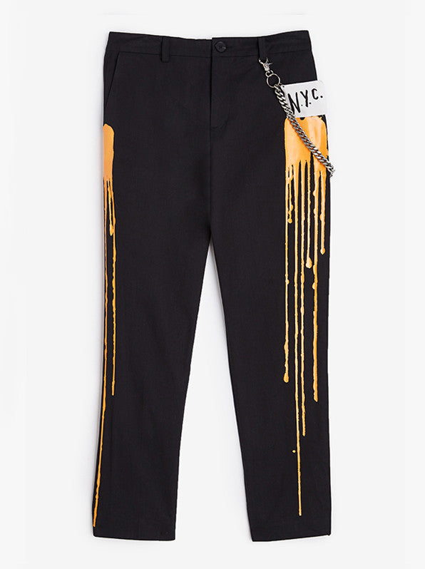 Paint Drip Pipe Trouser