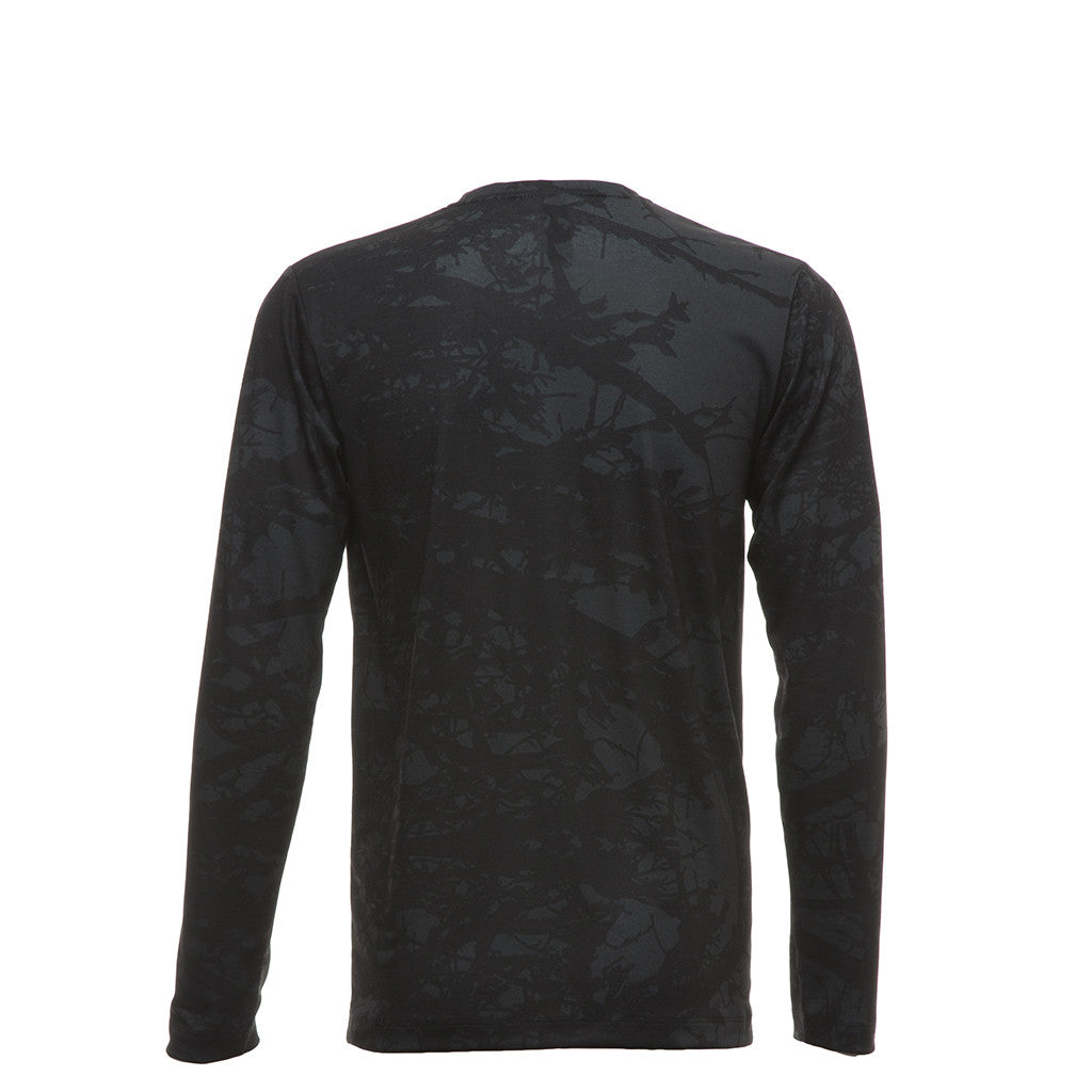 Jersey Top in Black Branch Print
