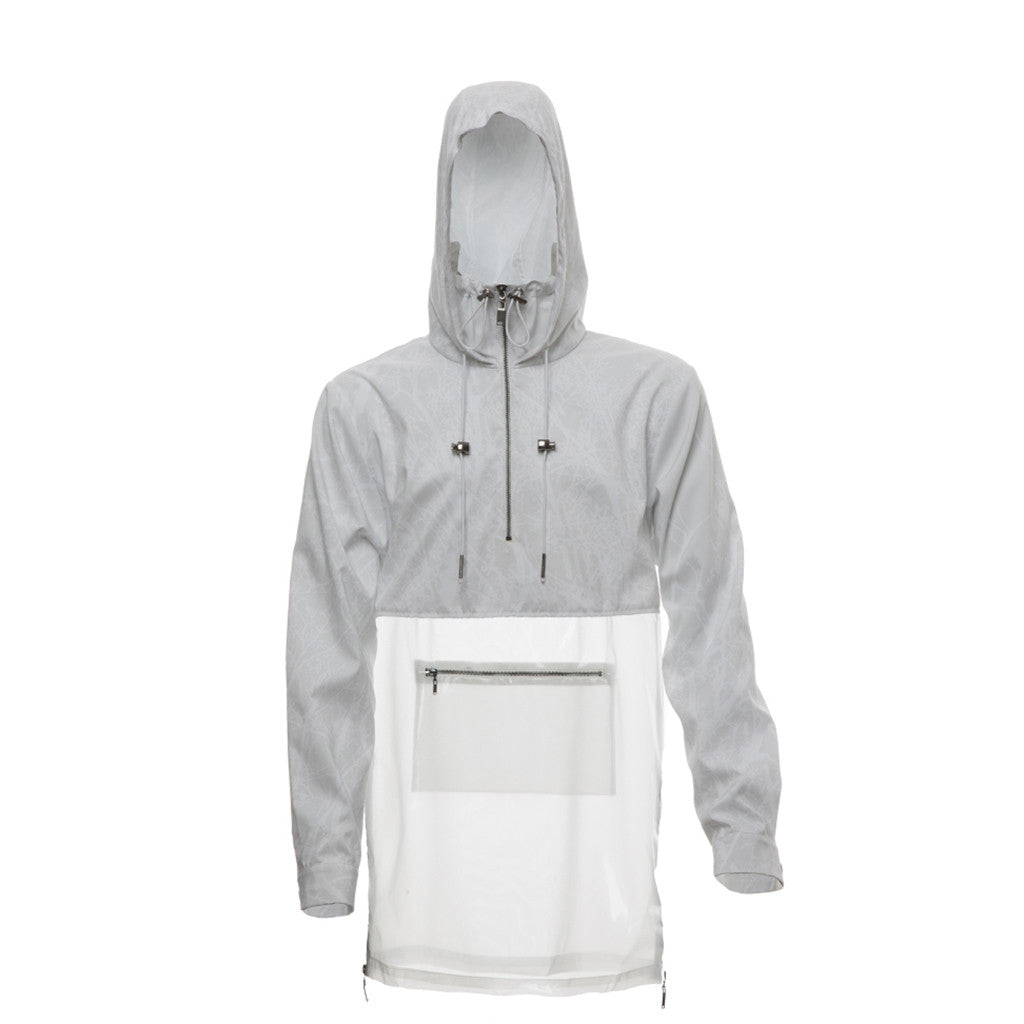Multifront Cagoule in White/Print