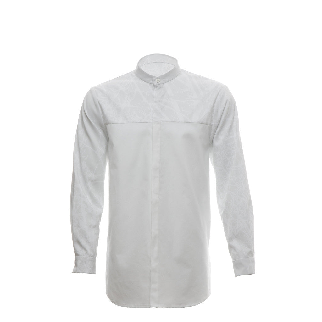 Multifront Shirt in White/Print