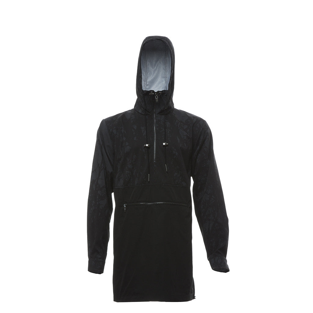 Multifront Cagoule in Black/Print