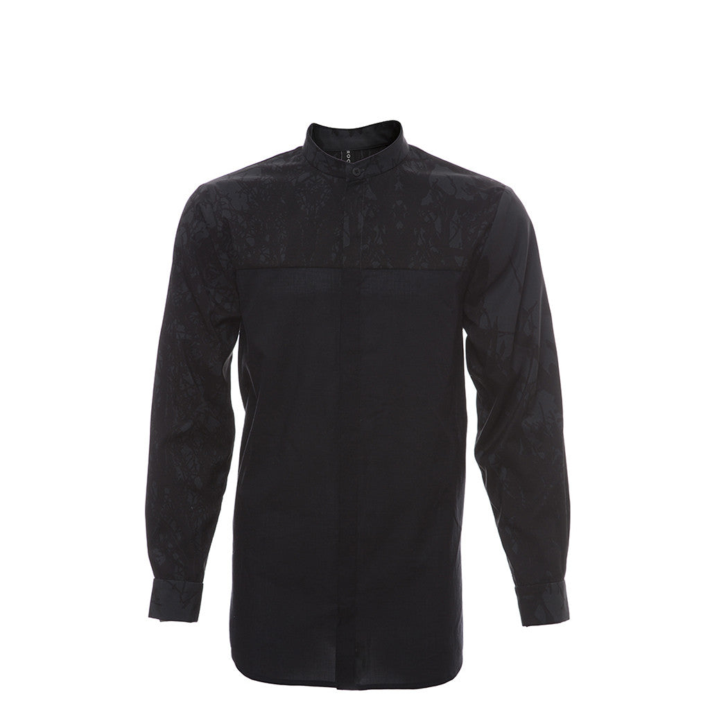 Multifront Shirt in Black/Print