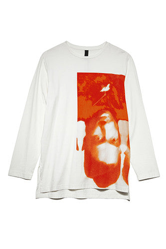 Pac Print Long Sleeve in Deep Orange