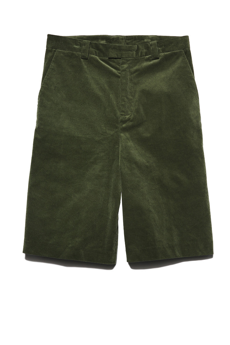 Wide Leg Shorts in Green