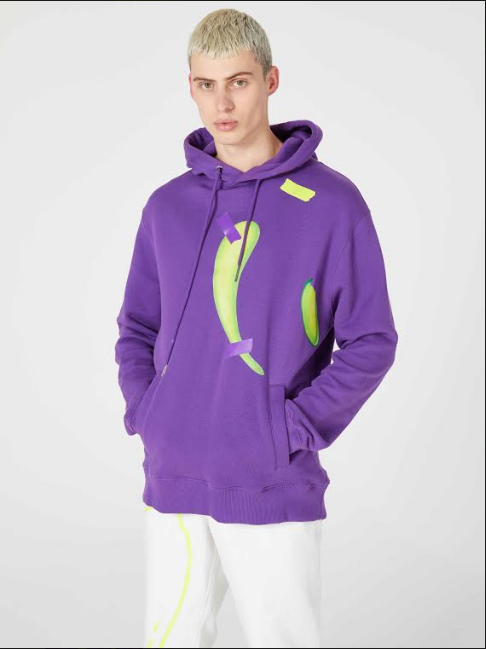 Purple Graphic taped sweatshirt Rochambeau