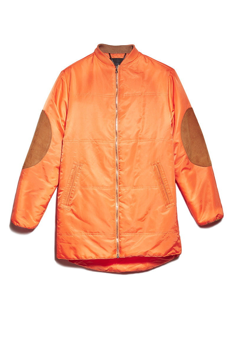 Puffer Jacket in Orange