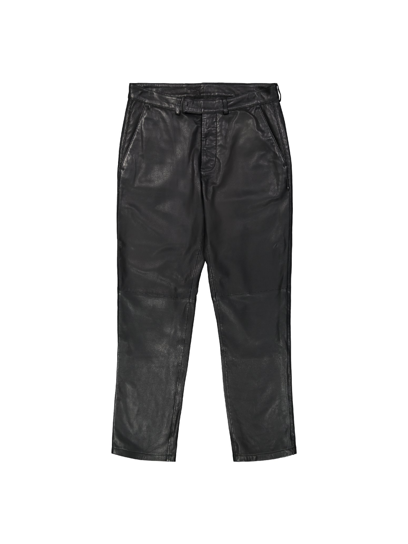 black - creased trouser