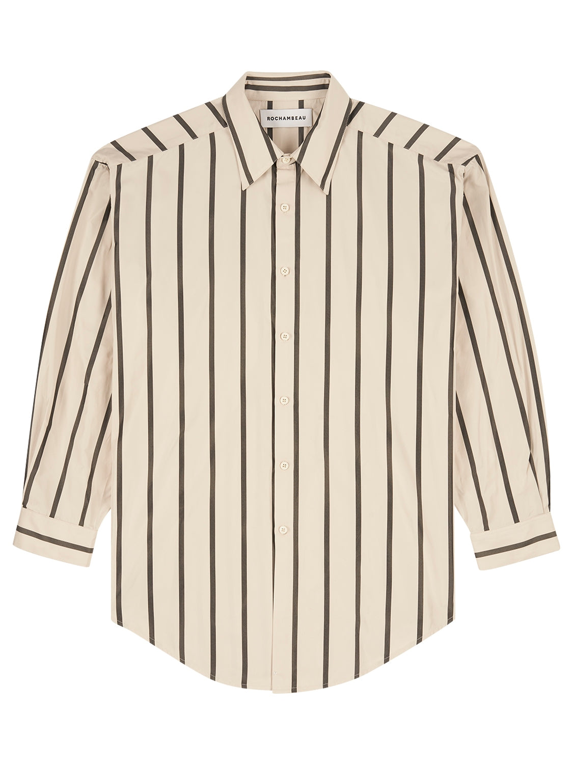 Oversized Shirt - Cream Stripe