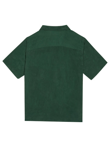Pocketed Short Sleeve Shirt - Green