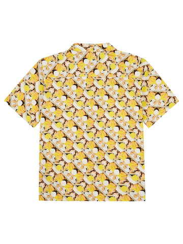 Pocketed Short Sleeve Shirt - Yellow Brad