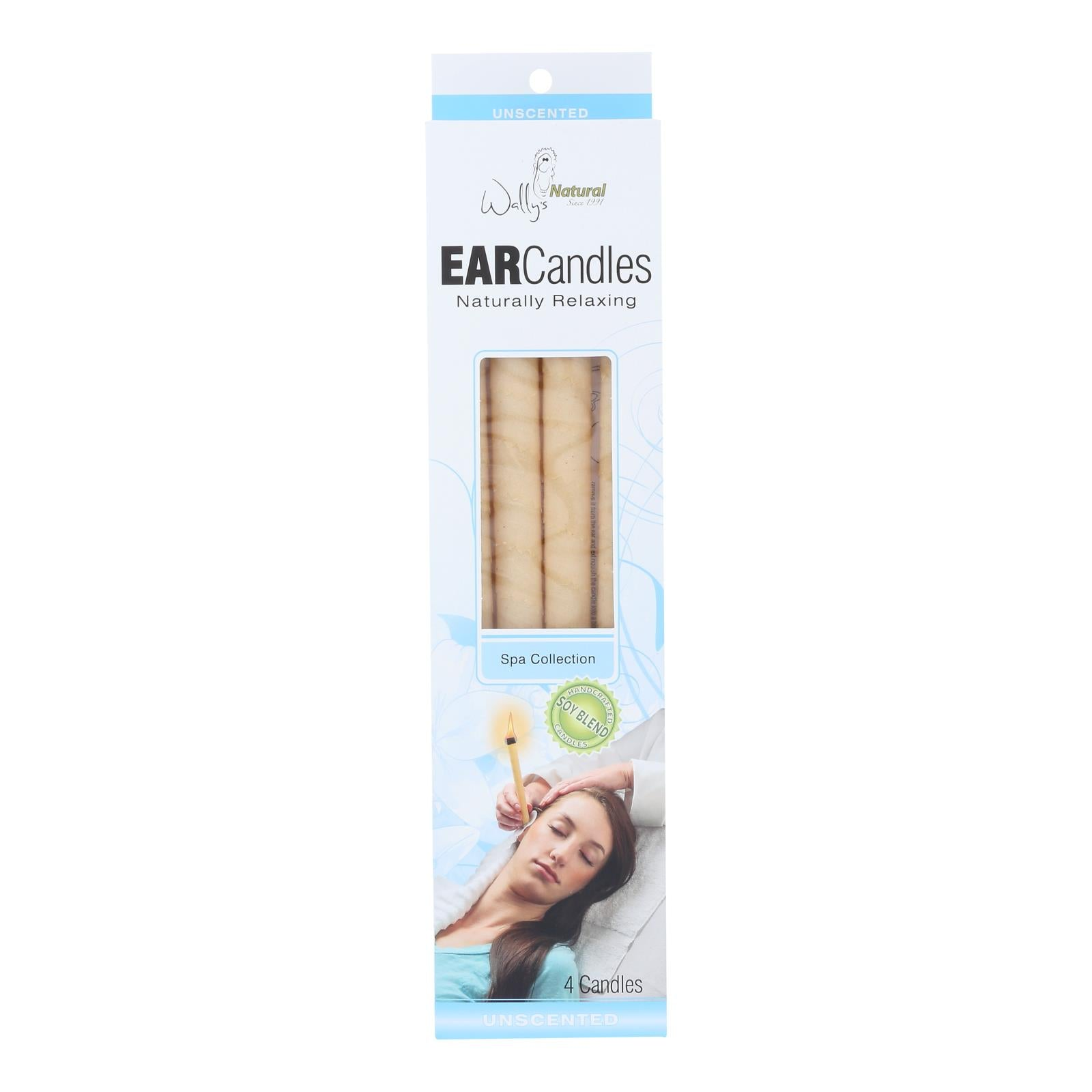 Wally\'s Ear Candles Plain Paraffin - 4 Candles