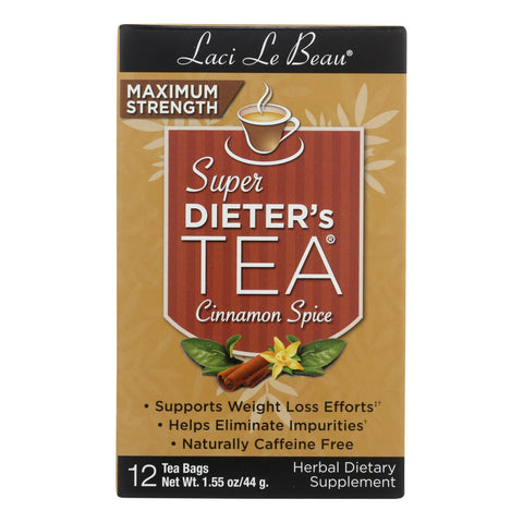 Laci Le Beau Maximum Strength Super Dieter's Tea Cinnamon Spice - 12 Tea Bags