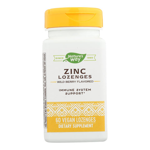 Nature's Way - Zinc Lozenges Natural Berry - 60 Capsules