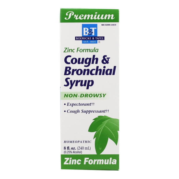 Boericke And Tafel - Cough And Bronchial Syrup With Zinc - 8 Fl Oz