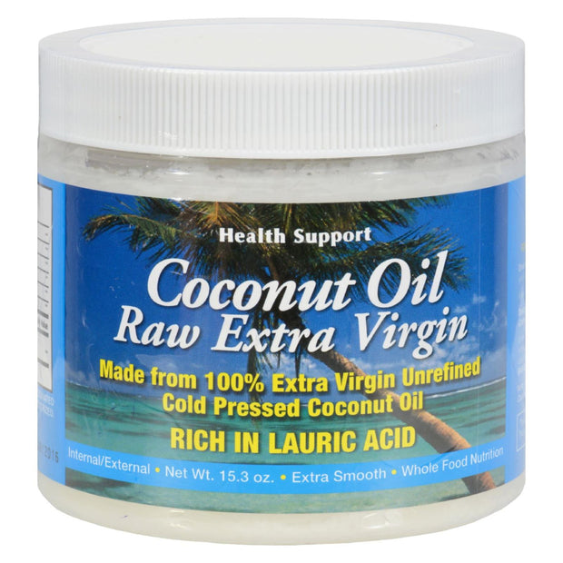 Health Support Raw Coconut Oil - 15.3 Fl Oz
