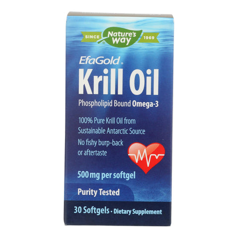 Nature's Way - Efagold Krill Oil - 30 Softgels