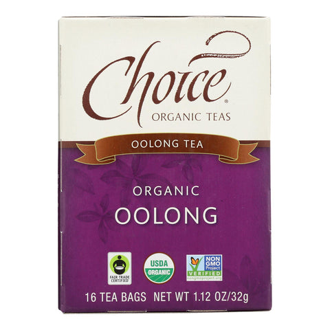 Choice Organic Teas Oolong Tea - 16 Tea Bags - Case Of 6