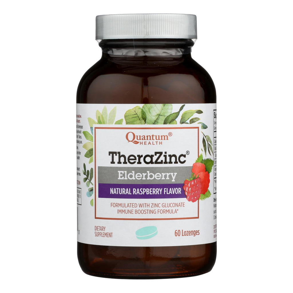 Quantum Research Thera Zinc Lozenges - Elderberry - 60 Lozenges