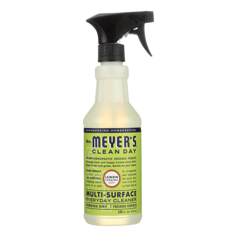 Mrs. Meyer's Clean Day - Multi-surface Everyday Cleaner - Lemon Verbena - 16 Fl Oz - Case Of 6
