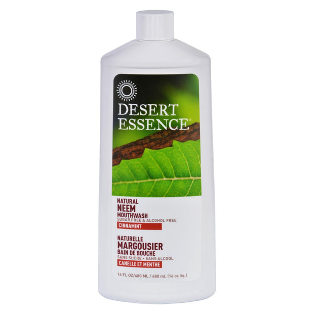 Desert Essence - Mouthwash - Natural Neem - Cinnamint - 16 Oz