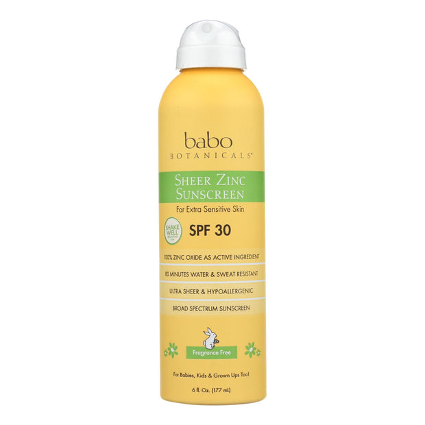 Babo Botanicals - Sunscreen - Fragrance Free - 1 Each - 6 Fl Oz.