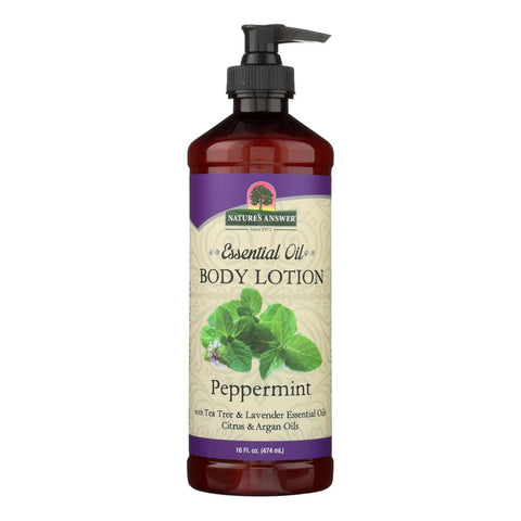 Nature's Answer Essential Oil Peppermint Body Lotion  - 1 Each - 16 Oz