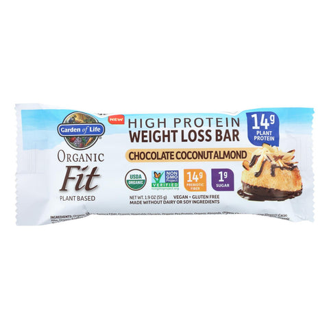 Garden Of Life - Fit High Protein Bar Chocolate Coconut Almond - Case Of 12 - 1.9 Oz