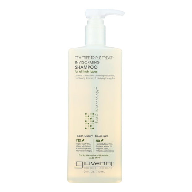 Giovanni Hair Care Products - Shampoo Tea Tree Invigorating - 24 Fz