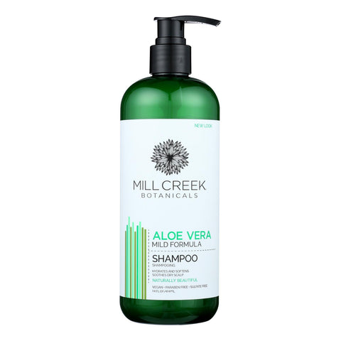 Mill Creek Botanicals Aloe Vera Shampoo Hydrates And  - 1 Each - 14 Fz