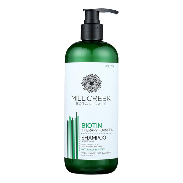 Mill Creek Botanicals Biotin Shampoo  - 1 Each - 14 Fz