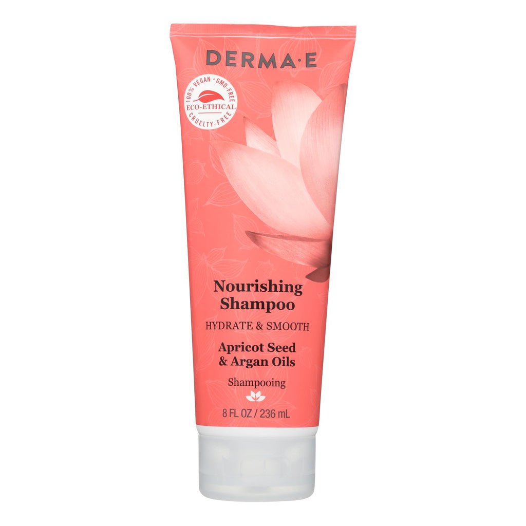 Derma-e Hydrate & Smooth Nourishing Shampoo, Apricot Seed And Argan Oil  - 1 Each - 10 Fz