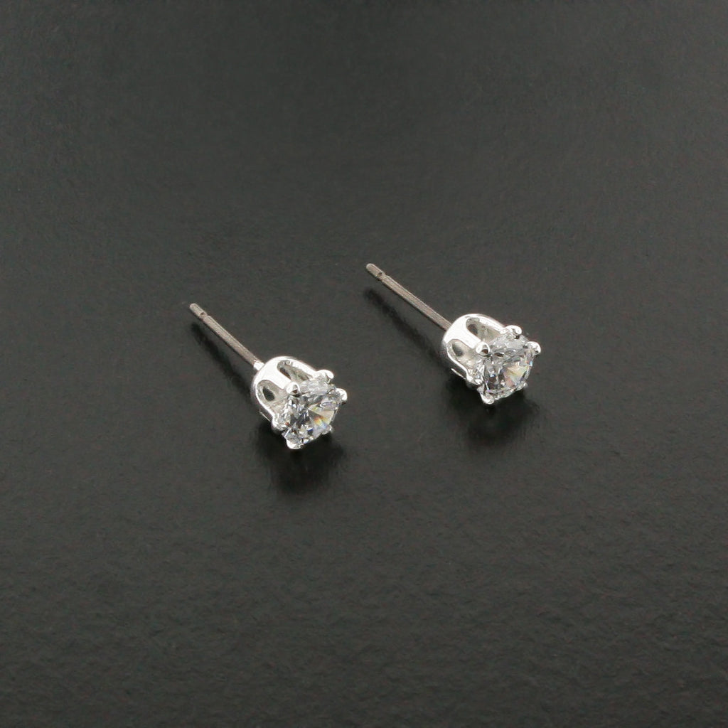 5mm CZ Stud Earrings - D20394E