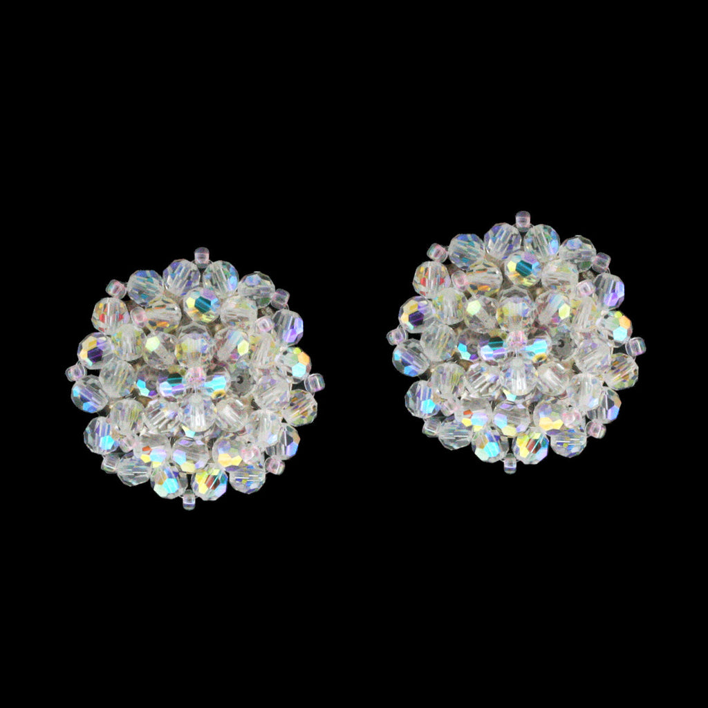 Crystal AB Woven Cluster Earrings - E11NC