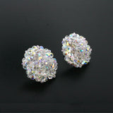Crystal AB Woven Cluster Earrings - alt view