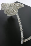 Art Nouveau Inspired Crystal Headband - side view