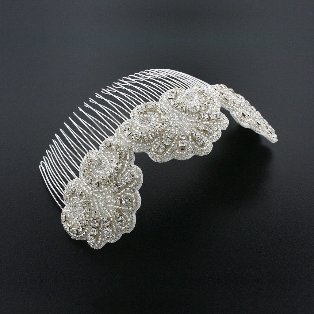 "6"" Haircomb with Crystal Applique - HC42"