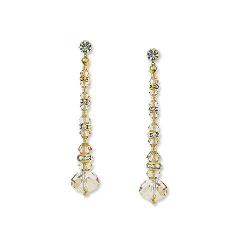 Champagne Crystal Earrings - HOL559E