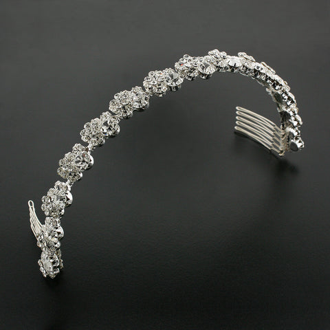 Bridal Headband with Crystal Clusters - LG9596HB