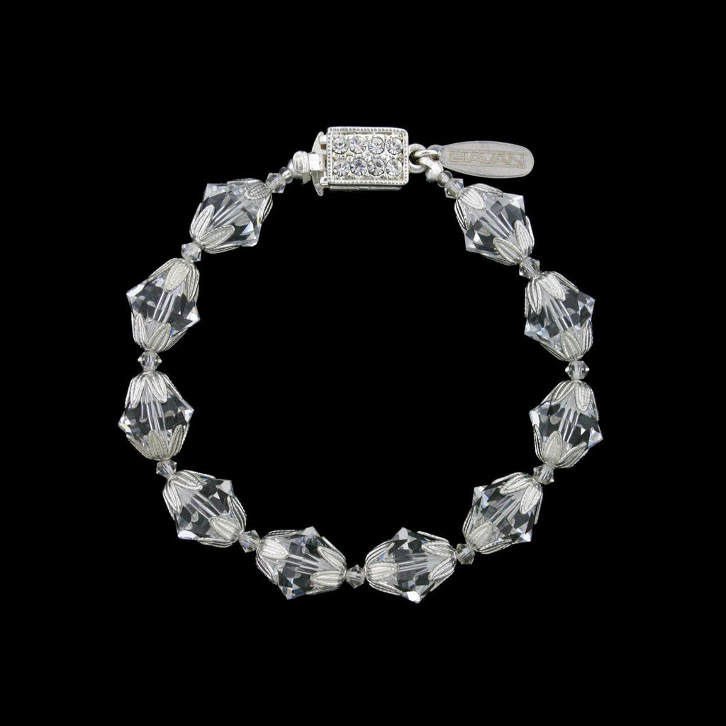 Crystal Bracelet with Silver-Tone Accents - RS135B