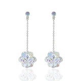 Chain Earrings with Iridescent Crystal Clusters - RS138E