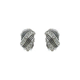 Clip-On Earrings with Rows of Crystal - VAE13791