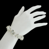 Crystal Cluster Bracelet - on wrist